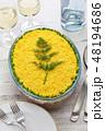 ミモザサラダ ロシア料理 サラダの写真 48194686