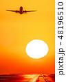 熊本空港の夕日 48196510