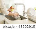 主婦 皿洗い 48202915