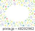 フレーム 植物 水彩のイラスト 48202962