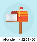 メールボックス ポスト 郵便のイラスト 48205493