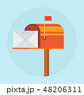 メールボックス ポスト 郵便のイラスト 48206311
