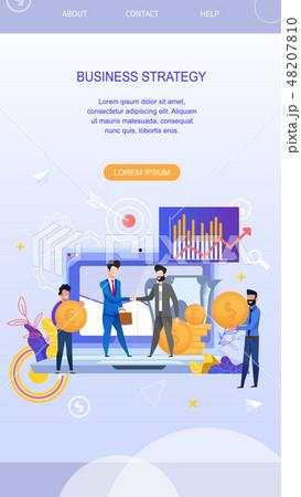 Vertical Flat Banner Business Strategy. Vector  48207810