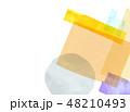 水彩 コラージュ テクスチャーのイラスト 48210493