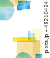 水彩 コラージュ テクスチャーのイラスト 48210494