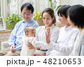 家族 三世代 赤ちゃんの写真 48210653
