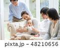 家族 三世代 赤ちゃんの写真 48210656