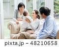 家族 三世代 赤ちゃんの写真 48210658
