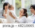 家族 三世代 赤ちゃんの写真 48210665