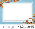 フレーム 紅葉 秋のイラスト 48211045