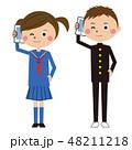 高校生 女の子 男の子のイラスト 48211218