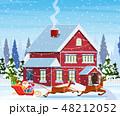 クリスマス 住宅 住居のイラスト 48212052