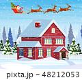 クリスマス 住居 ウィンターのイラスト 48212053