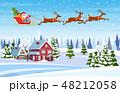 クリスマス 住居 ウィンターのイラスト 48212058
