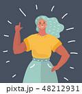 女性 メス 仕草のイラスト 48212931