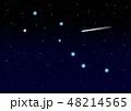春の北斗七星 流れ星 48214565
