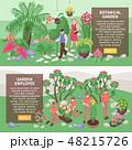 植物 ガーデン のぼりのイラスト 48215726