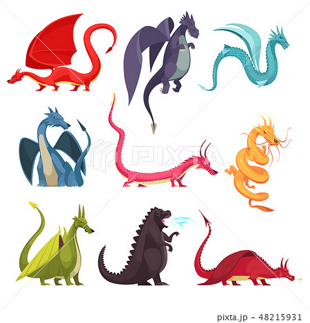 Dragons Monsters Cartoon Set 48215931