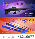 バイアスロン のぼり バナーのイラスト 48216077