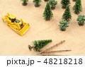 森林と建設機械 48218218