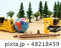 森林と建設機械 48218459