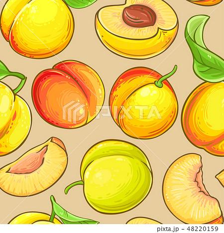 peach vector pattern 48220159