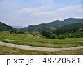 山 水田 米の写真 48220581