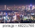 東京都 霧 都市風景の写真 48221760