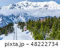 雪山 ロープウェイ 冬の写真 48222734