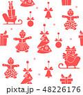 クリスマス パターン 柄のイラスト 48226176