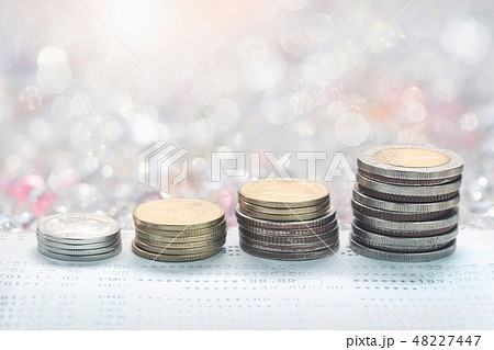 money of coins concept for property ladder, 48227447