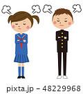 高校生 女の子 男の子のイラスト 48229968