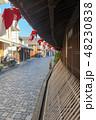 冬晴れの柳井の白壁町並み、ハイポジションからの撮影 48230838