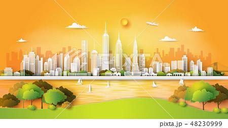 city park sunset time, 48230999