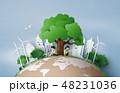 エコ 樹木 樹のイラスト 48231036