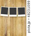 フレーム 木目 壁のイラスト 48231099