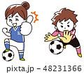 サッカー選手の女性 48231366