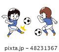 サッカー選手の女性 48231367