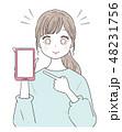 若い女性 スマホ 48231756