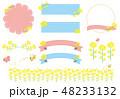 菜の花の素材セット 48233132
