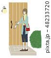 女性-玄関-帰宅 48233720
