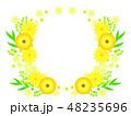 花 黄色 ベクターのイラスト 48235696