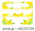 花 黄色 ベクターのイラスト 48235700