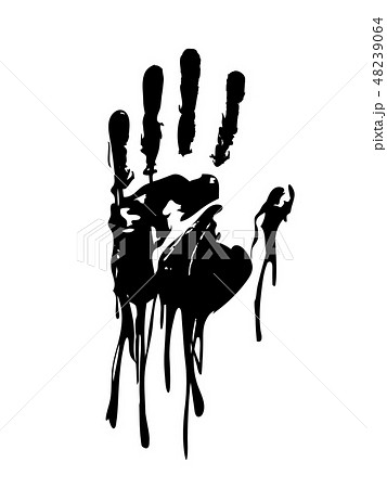 Black bloody hand graphic vector 48239064