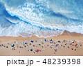 Aerial view at the beach. Aerial seascape 48239398