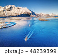 Boats on the Lofoten islands, Norway. 48239399