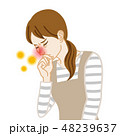 主婦 花粉症 鼻づまりのイラスト 48239637