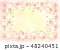 桜 フレーム 水彩のイラスト 48240451