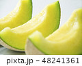 マスクメロン メロン 果物の写真 48241361