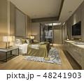 ベッド ベッドルーム 寝室のイラスト 48241903